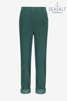 Seasalt Green Coast Land Crackington Trousers