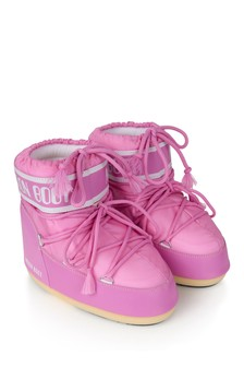 Girls Pink Low Snow Boots