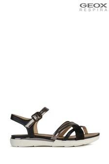Geox Women's Hiver Black Sandals