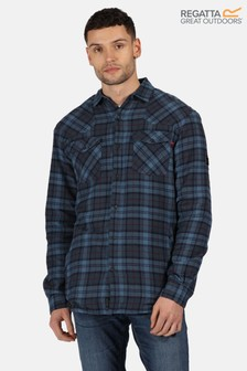 Regatta Blue Tavior Long Sleeve Shirt