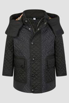 Burberry Kids Boys Black Coat