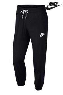 Nike Black Woven Cuffed Joggers