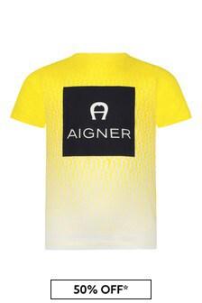 Aigner Boys Yellow Cotton T-Shirt