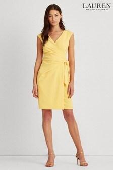 Lauren Ralph Lauren® Yellow Saidann Crepe Dress