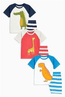 Animal Pyjamas Three Pack (9mths-8yrs)