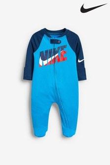 Nike Baby Blue Futura Babygrow