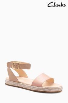 Clarks Nude Botanic Ankle Strap Sandal