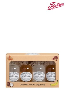 Set of 4 Miniature Caramel Vodka Liqueurs Gift Box by Tiptree