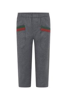 Boys Grey Flannel Trousers