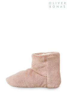 Faux Fur Ankle Bootie Slippers