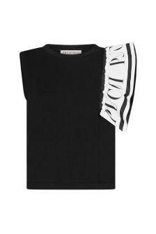 Emilio Pucci Girls Black Cotton T-Shirt
