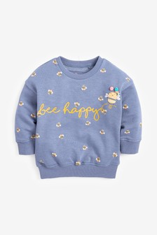 Bee Happy Crew Sweater (3mths-7yrs)