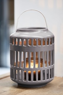 Cut Out Ceramic Lantern