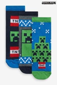 3 Pack Minecraft Christmas Socks (Older)