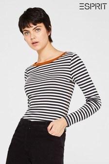 חולצת טי עם פסים ושרוול ארוך של Esprit