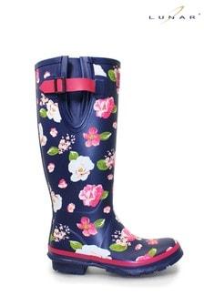 Lunar Floral Patterned Rubber Wellington Boots