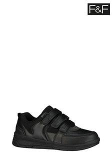 F&F Black PU Triple Strap Shoes