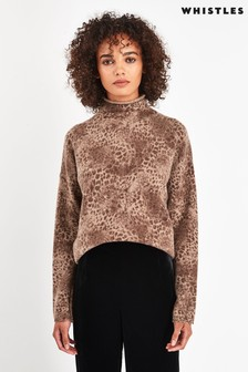 Whistles Soft Roll Neck Wool Sweater