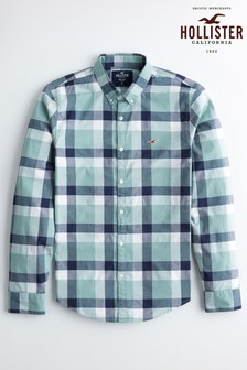 Hollister Green Long Sleeved Shirt