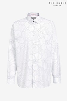 Ted Baker White Gogirl Cotton Floral Print Shirt
