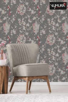 Japanese Chinoise Floral Wallpaper by Vymura London