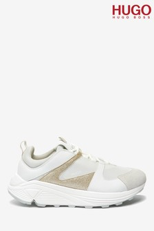 HUGO Gold Horizon Glitter Trainers