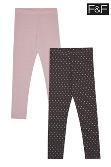 F&F Star Leggings Two Pack