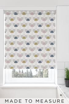 Retro Tulip Grey Made To Measure Roller Blind