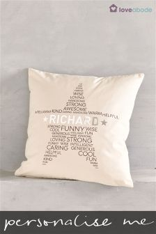 Personalised Star Cushion By Loveabode