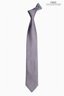 Pattern Signature Italian Fabric Tie