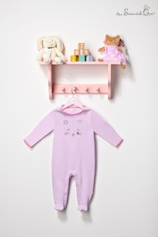 The Essential One Baby Girls Pink Sleepsuit
