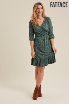 FatFace Emerald Gracie Tea Ditsy Wrap Dress
