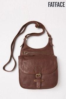 FatFace Chocolate Anna Oiled Leather Cross Body Bag