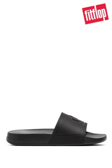 FitFlop Black Men's iQushion Pool Sliders
