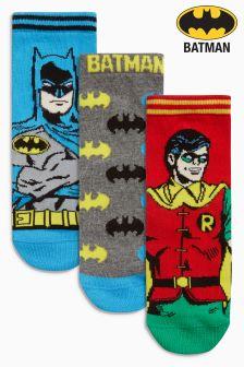 Trzy pary skarpet Batman® i Robin (Starsze dziewczynki)