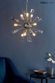 Niro Nickel 9 Pendant Light by Gallery Direct