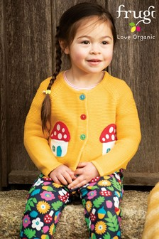 Frugi Blue GOTS Organic Comfy Pull Up Trousers