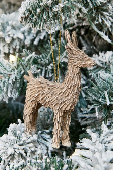 Wood Effect Stag Bauble