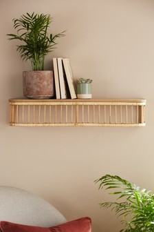 Single Rattan Shelf