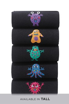 Monster Embroidery Socks Five Pack