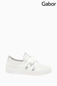 Gabor Waltz White Leather Trainers