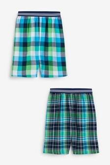 2 Pack Check Pyjama Shorts (3-16yrs)
