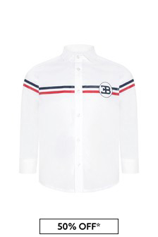 Bugatti Boys White Cotton Shirt