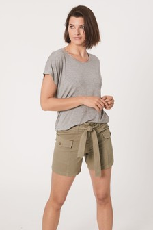Utility Belted Shorts
