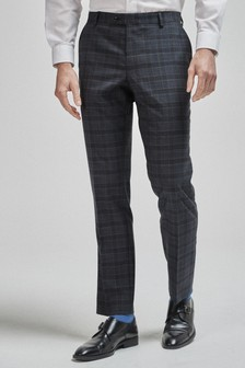 100% Wool Check Suit: Trousers