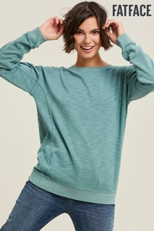 FatFace Green Bobby Crew Sweater