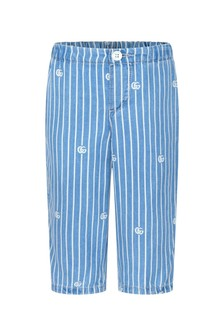 GUCCI Kids Baby Boys Blue Trousers