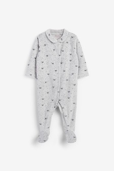 Panda Velour Sleepsuit (0mths-3yrs)