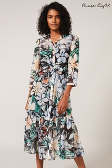 Phase Eight Green Kerria Floral Shirt Dress
