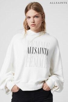 AllSaints White Femme Hoody